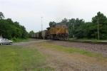 UP 7120 at end of SB unit coal train,