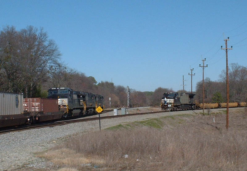 NS Trains 204 and P79 meet