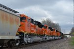 4 new BNSF SD70ACe locomotives