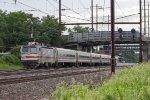 SPAX AEM-7 #2304 on Train No. 9745