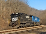 A Coal Train gains speed on the Pokey after leaving the Gilbert Br.