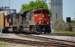 CN 8846 with loaded autoracks of Mercedes passed 27th St