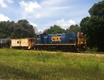 CSX 1201 with ex B&O Caboose