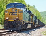 CSX NB Empty Coal Meets CSX SB From Spruce Pine at Sevier