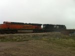 BNSF 7863 and NS 1080