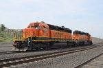 BNSF 1778 & 1999 sit idle at Connell, WA