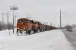 BNSF 6288 & 9996 dig in as the rear of E937 clears the Wyoming Yard limits
