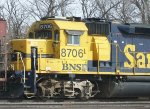 BNSF 8706, 3-03-2013, close-in view of conductor's side