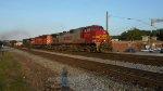 NS 22Q Westbound with BNSF War Bonnet & CP Rail SD40-2
