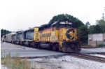 CSX freight led by Chessie System 6219