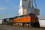 BNSF 7338 Heads up a SB out of Old Monroe Mo..