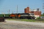 BNSF 9635 Leads the GALMAD into Granite city IL..
