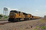 UP 4900 Heads a slot train NB up the Kcs Main.