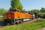BNSF 6295 Works a empty coal on the North Belt..