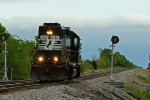 NS 5167 Runs around it's train in High hill Mo..