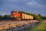 BNSF 6404 Rolls a empty coal into the golden hour of sun..
