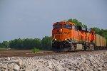 BNSF 6438 Hauls a empty coal into Old Monroe Mo.