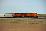 BNSF 5262 Rips a freight train west down the Marceline Sub.