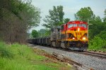 KCS 3900 Southern belle leads a loaded coil train..