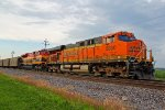 BNSF 5800 and KCS 4151 are dpu's on a empty coal train.