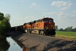 BNSF 7639 Heads up a ore train down the BNSF Hannibal Sub.