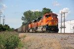 BNSF 8761 Leads a coal load SB down the K Line..