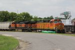 BNSF 4918 Sits tied down on the Alton&Southern