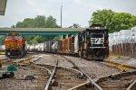 NS 8838 Waits on a crew to head onto home rails..