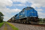 NS 8098 The Conrail sits tied down for the weekend.