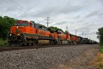 BNSF 1053 Heads up a SB GALSTL with NS 8101 5th out.