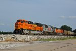 BNSF 8536 Comes to a stop at Old Monroe Mo..