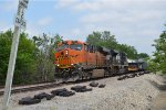 BNSF 7912 leads a southbound