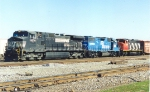 Colorful mix of power on NS train at 32nd street.