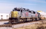 KCS 688 leads NS 219 at 32nd street.
