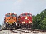 CP ES44AC 9377 & BNSF ES44DC 7790