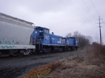 Two SW1500s in Conrail paint