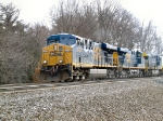 CSX 5202 leads a Van train on the Selkirk Branch at Game Farm Road