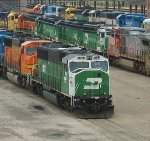 BNSF 8183 stored power
