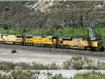 UP 8323 & UP 9184 at Cajon Pass