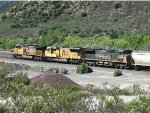 UP 5595, UP 5132 and UP 6196 at Cajon Pass