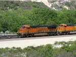 BNSF 6789 & BNSF 7663 at Cajon Pass