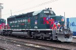 UP 1996, EMD SD40-2, Olympic Torch Relay paint, at Proviso Yard