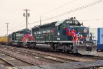 UP 1996, 1896, EMD SD40-2, Olympic Torch Relay paint, at Proviso Yard