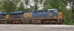 Two CSX ES44AC's heading out of Howell Yard