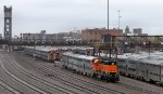 Switching out the Metra coach yard