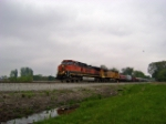 BNSF 1066/UP 6652 WB on NS Wabash Line at M156