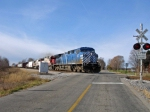 EB CP Rail CEFX 1047, SOO 6014, SOO ? On NS Wabash Line