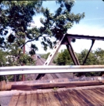 Trestle bridge on Boden lane in West Natick