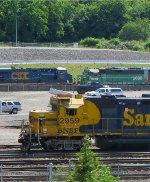 BNSF 2959, CSX 861 and BNSF 2088