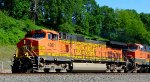 BNSF 4001 leads a northbound oil can under clear skies